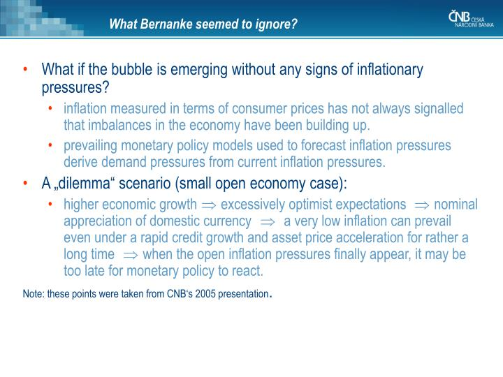 What Bernanke seem