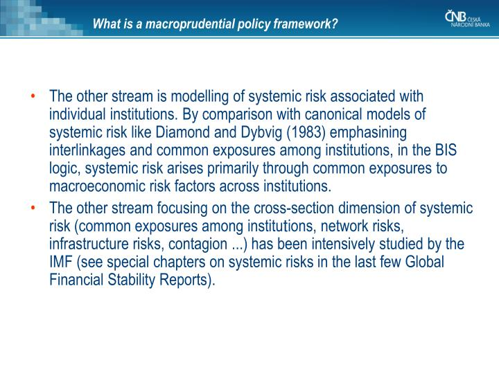 What is a macroprudential policy framework?
