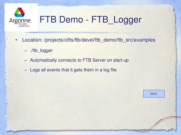 FTB Demo - FTB_Logger