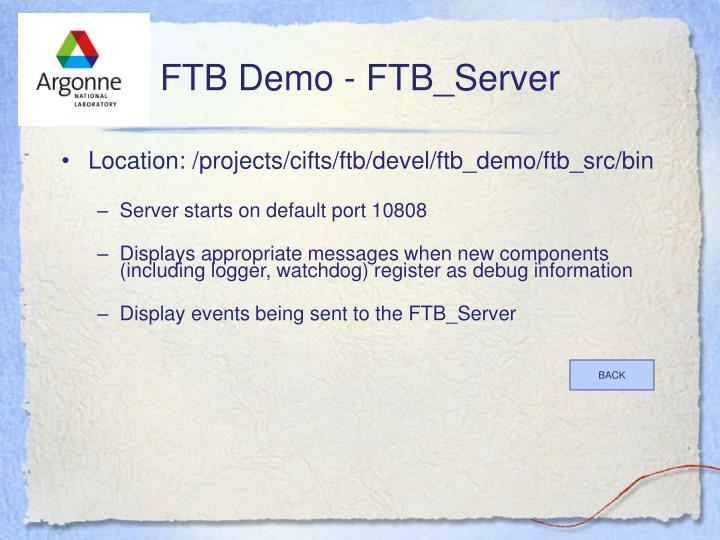 FTB Demo - FTB_Server