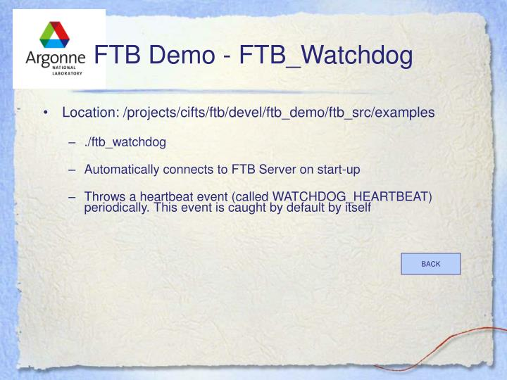 FTB Demo - FTB_Watchdog