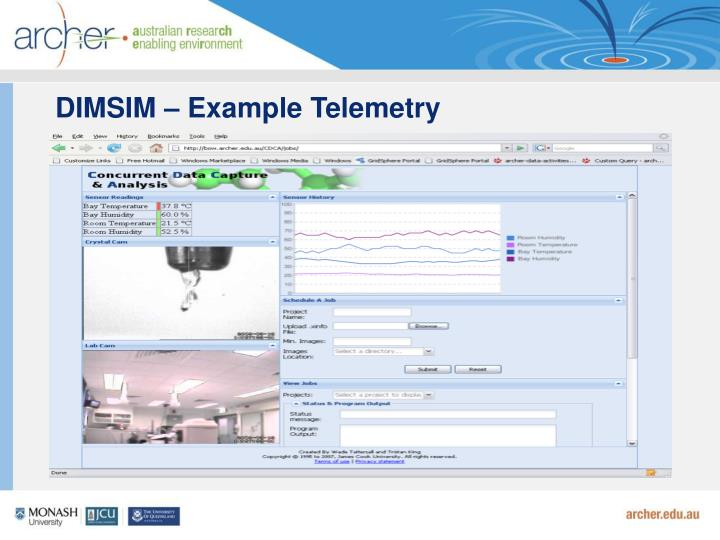 DIMSIM – Example Telemetry