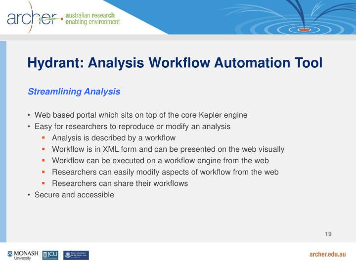 Hydrant: Analysis Workflow Automation Tool