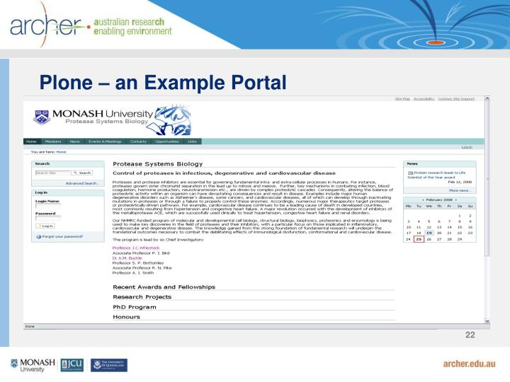 Plone – an Example Portal