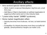 ancillary effects
