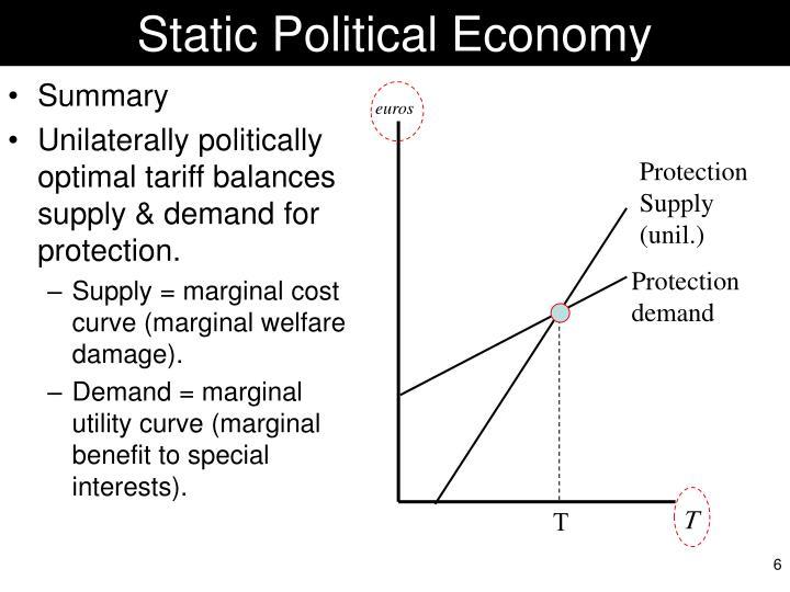 Static Political Economy