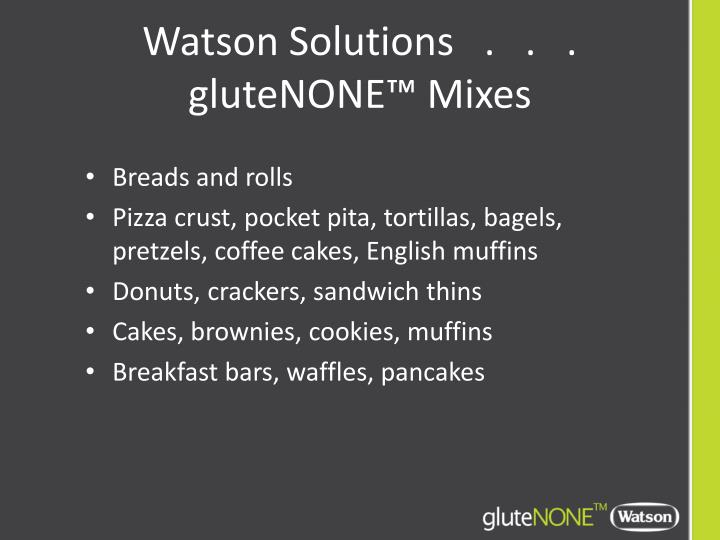 Watson Solutions   .   .   .