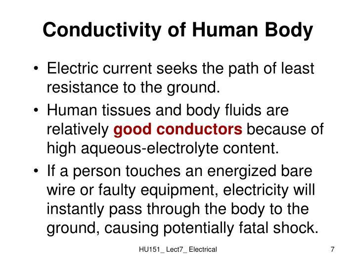 Conductivity of Human Body