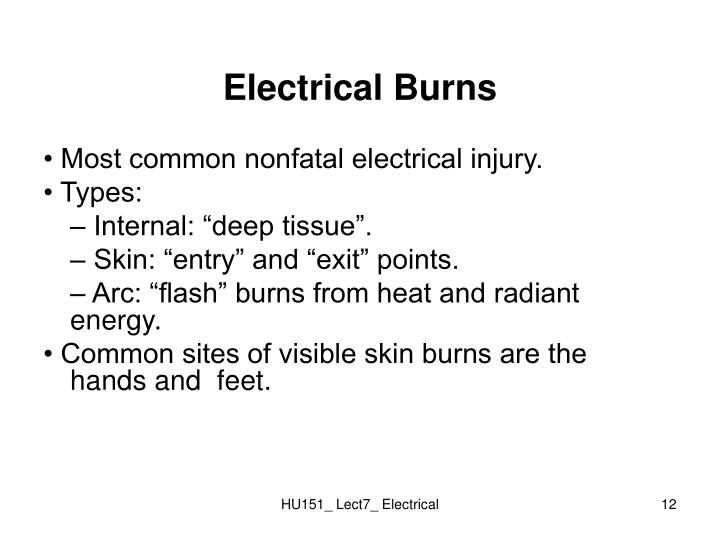 Electrical Burns