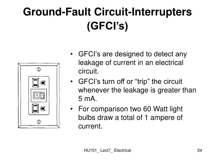 Ground-Fault Circuit-Interrupters (GFCI's)