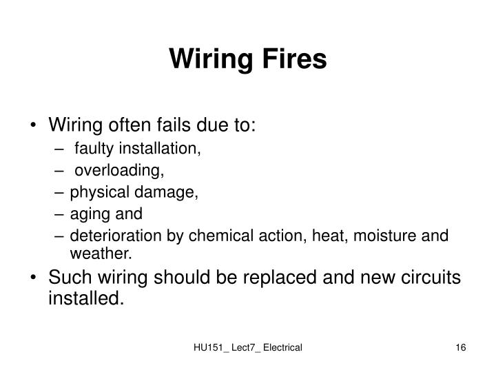 Wiring Fires