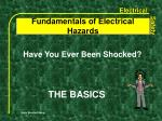 fundamentals of electrical hazards1