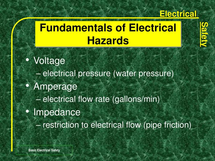 Fundamentals of Electrical Hazards
