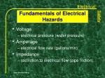 fundamentals of electrical hazards4