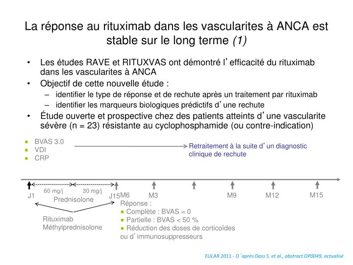 La réponse au rituximab dans les vascularites à ANCA est stable sur le long terme