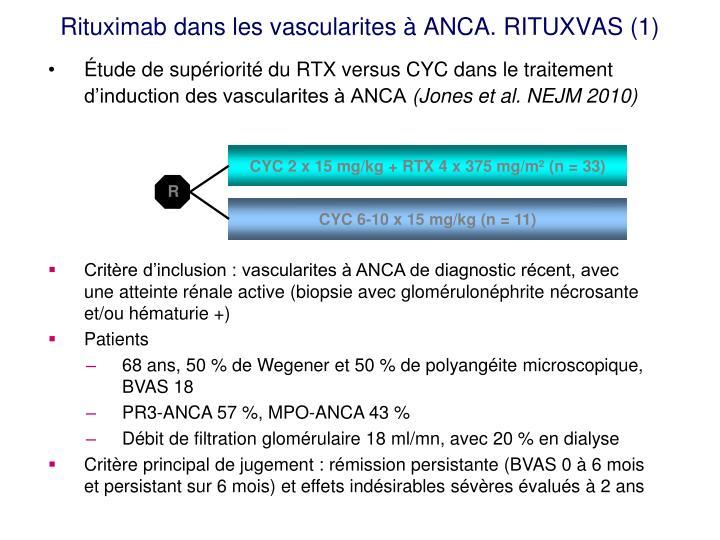 Rituximab dans les vascularites à ANCA. RITUXVAS (1)