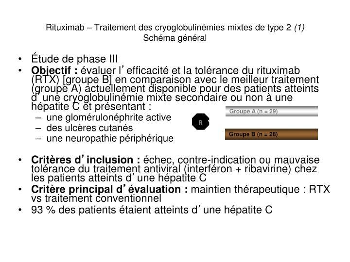 Rituximab – Traitement des cryoglobulinémies mixtes de type 2