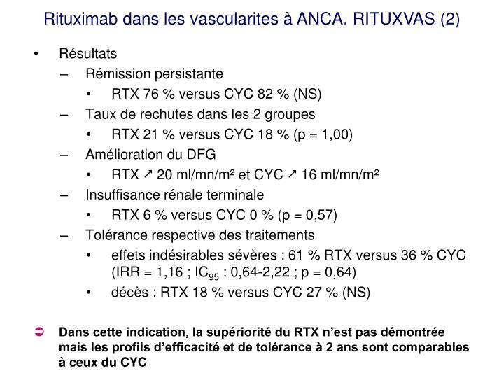 Rituximab dans les vascularites à ANCA. RITUXVAS (2)