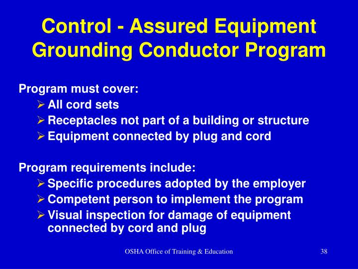 Control - Assured Equipment Grounding Conductor Program