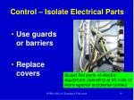 control isolate electrical parts