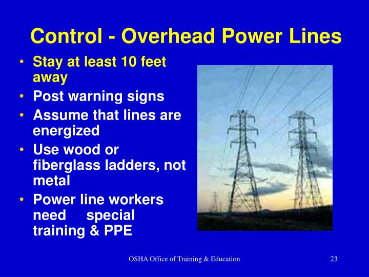 Control - Overhead Power Lines