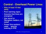control overhead power lines