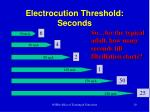 electrocution threshold seconds