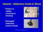 hazard defective cords wires