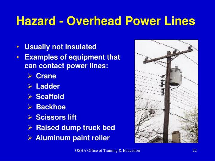 Hazard - Overhead Power Lines