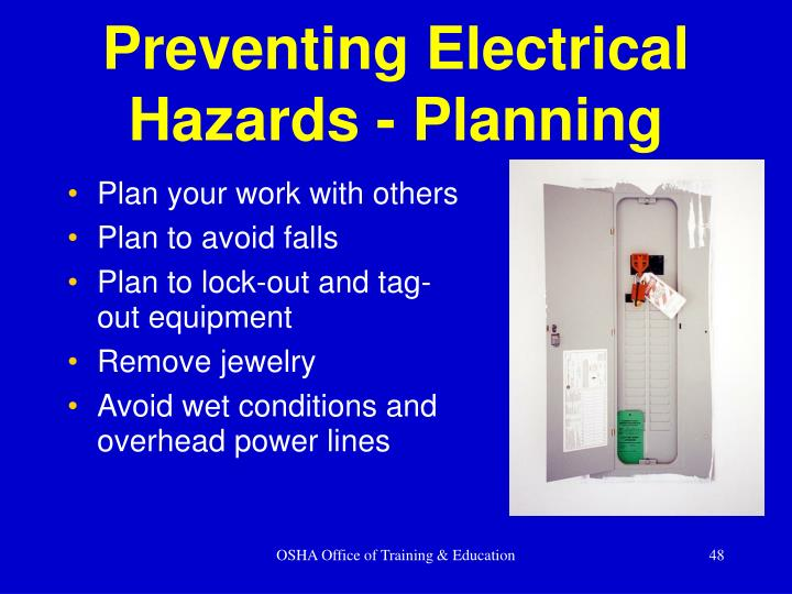 Preventing Electrical Hazards - Planning