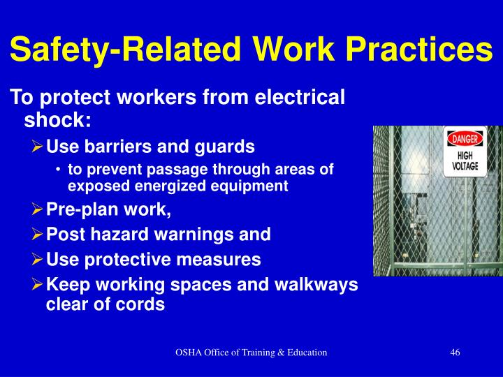 To protect workers from electrical shock: