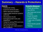 summary hazards protections