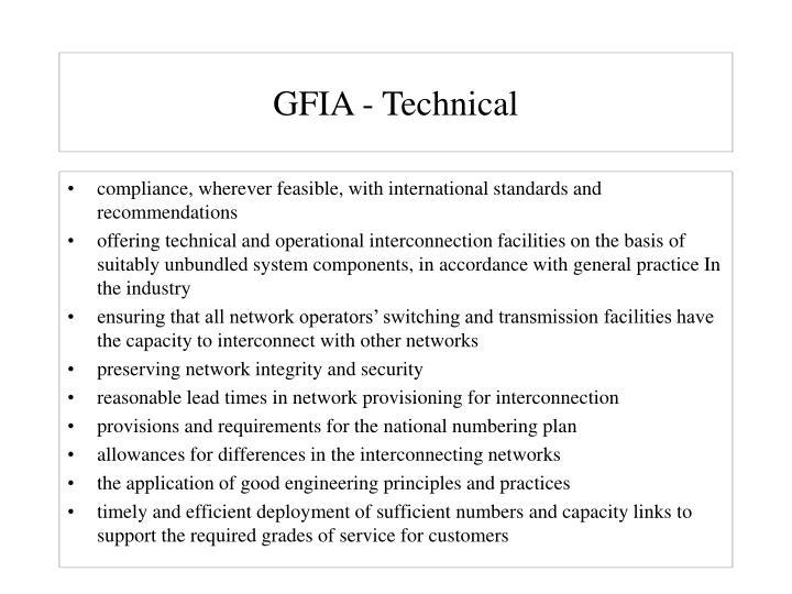 GFIA - Technical