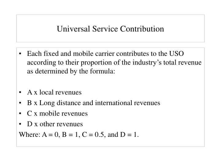 Universal Service Contribution