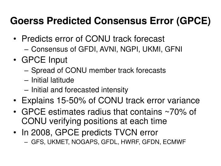 Goerss Predicted Consensus Error (GPCE)