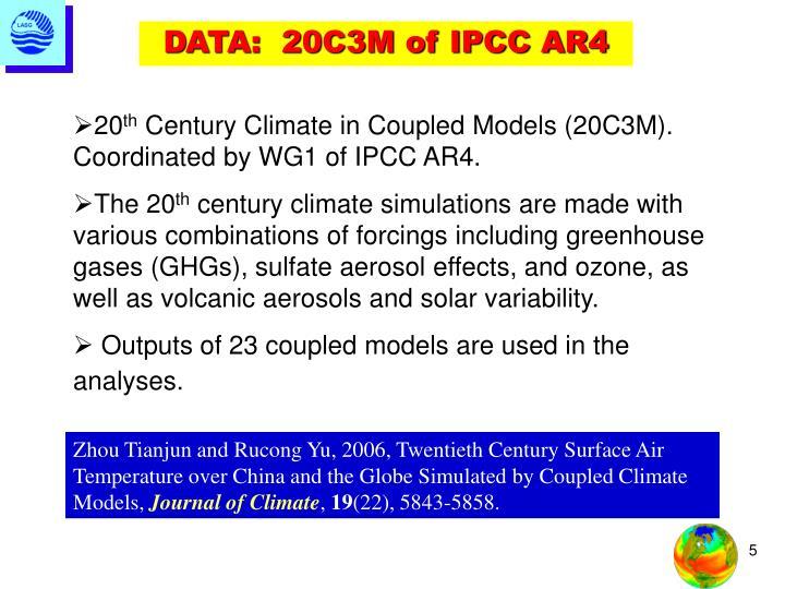 DATA:  20C3M of IPCC AR4