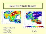 relative nitrate burden