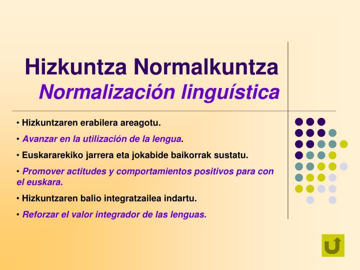 Hizkuntza Normalkuntza