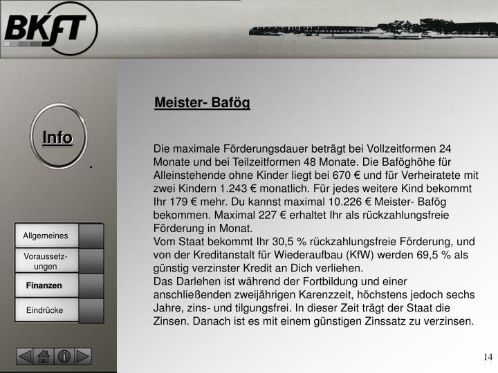 Meister- Bafög