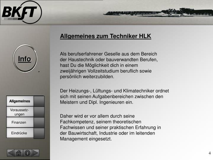 Allgemeines zum Techniker HLK