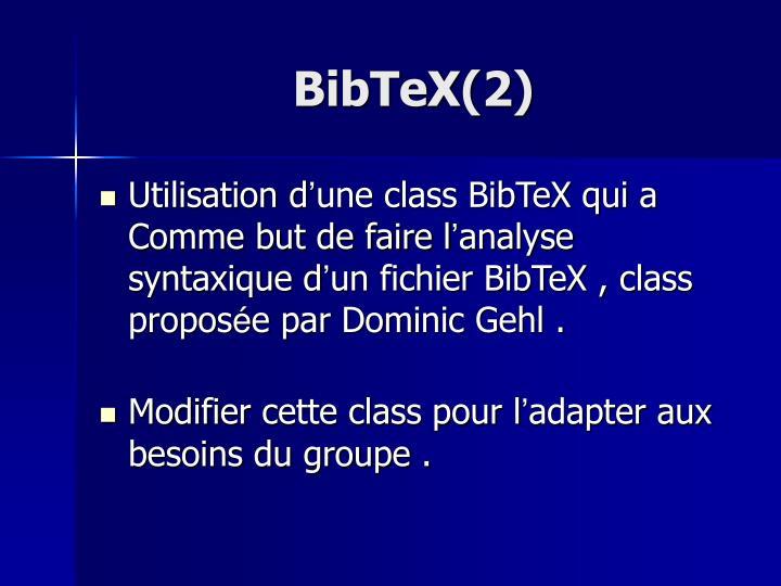BibTeX(2)