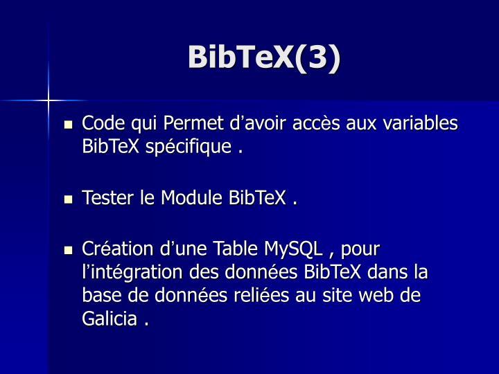 BibTeX(3)