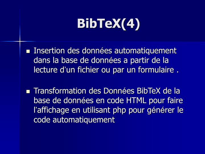 BibTeX(4)