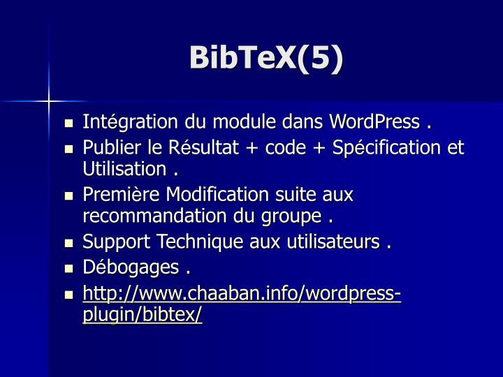 BibTeX(5)