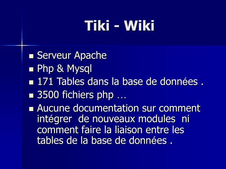 Tiki - Wiki