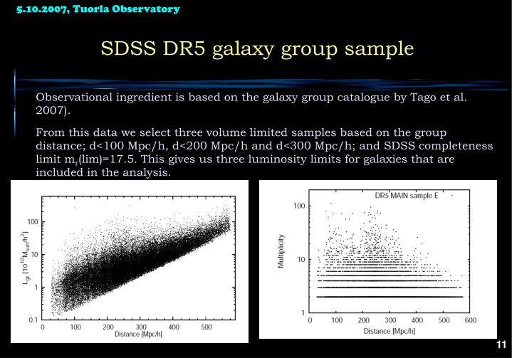 SDSS DR5 galaxy group sample