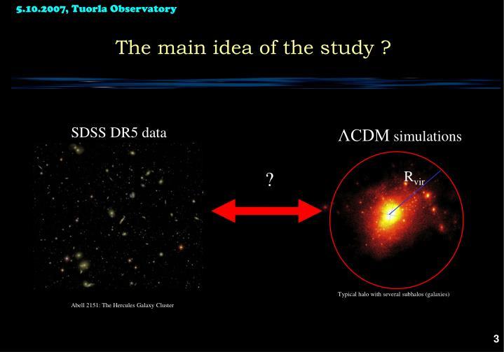 The main idea of the study ?