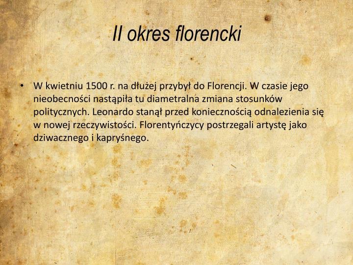 II okres florencki
