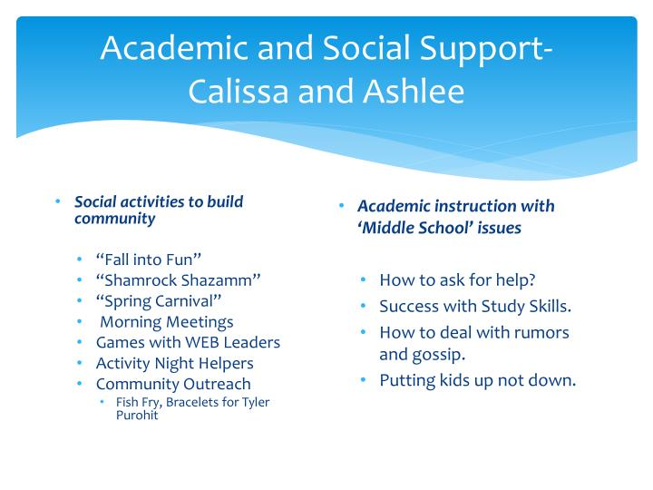 Academic and Social Support-