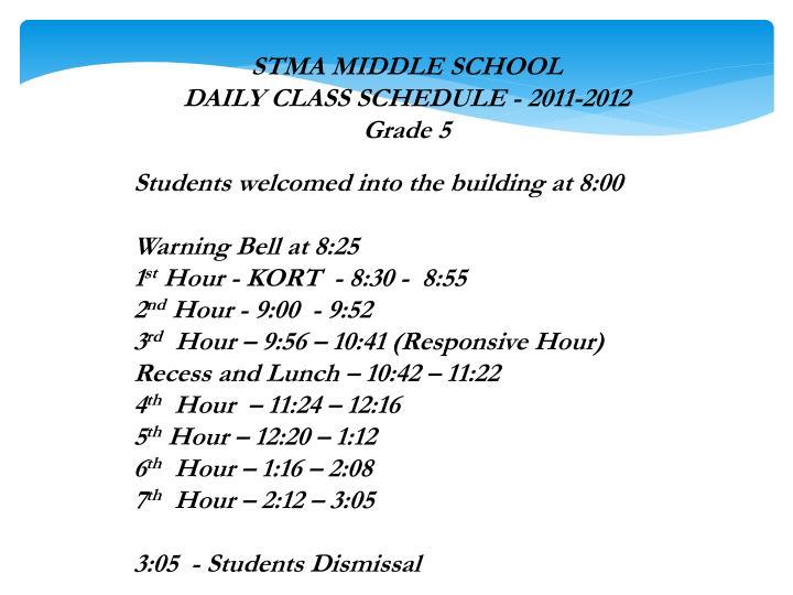 STMA MIDDLE SCHOOL